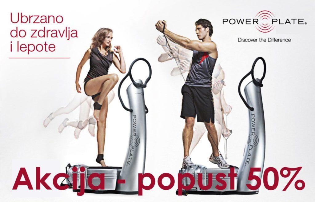 Power Plate Trening Cena Popust -50 % !!!